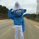 Smurf Mascot Costume Professional Adults Cartoon Cosplay Dress Outfits Halloween
