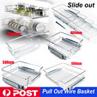 Heavy Duty Pull Out Pantry Drawer Slide Wire Basket Wardrobe Kitchen 350-600 mm
