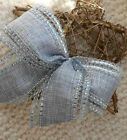 "5"" 10"" WIRED CHRISTMAS RIBBON BOW SILVER & GREY SILKY HESSIAN  TREE GIFT WREATH"