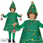 Child Boys Girls Christmas Tree Fancy Dress Outfit Lights Up LED Costume & Hat