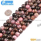 """Natural Black Rhodonite Round Beads For Jewelry Making Free Shipping Strand 15"""""""