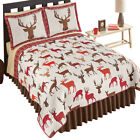 Deer Icons Print All Over Winter Reversible Quilt, by Collections Etc image