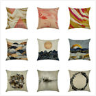 Home Decor Vintage Pattern Watercolor Linen Throw Pillow Cases Cushion Cover 18″