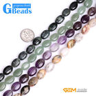 """Assorted Natural Stones 10x14mm Oval Beads For Jewelry Making Free Shipping 15"""""""