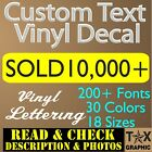 Special Order For Custom Vinyl Lettering Decal    Window Text  Name Sign Sticker
