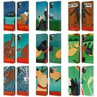 OFFICIAL STEPHEN HUNECK PLAYFUL DOG LEATHER BOOK CASE FOR APPLE iPHONE PHONES