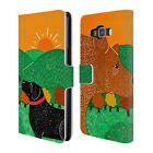 OFFICIAL STEPHEN HUNECK DOG'S FRIENDS LEATHER BOOK CASE FOR SAMSUNG PHONES 2