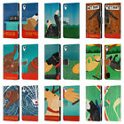 OFFICIAL STEPHEN HUNECK PLAYFUL DOG LEATHER BOOK WALLET CASE FOR SONY PHONES 1