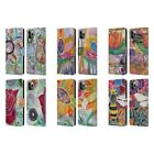 OFFICIAL LAUREN MOSS FLOWERS LEATHER BOOK WALLET CASE FOR APPLE iPHONE PHONES