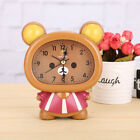 Novelty Cute Bear Silent Sweep Analog Small Home Plastic Alarm Clock for Kids