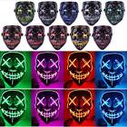 3-Modes Scary Mask Cosplay Led Costume Mask EL Wire Light Up