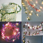 Flower Leaves Led String Lights Battery Operated Lamp Christmas Xmas Decoration