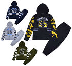 Boys Tracksuit Camo Jumper Kids Zipped Hoodie And Joggers Set 2PSC Ages 2-12 Yrs