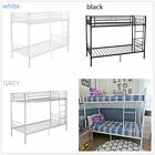 3FT Single Metal Bunk Bed Frame 2 Person for Adult Kids white Grey Black UK