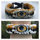 BLACK AND GOLD FOOTBALL BRACELET PITTSBURGH COLORS CUSTOM MADE IN USA