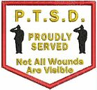 PTSD Patch Service Dog Patch Pocket Shaped Dog Vest Patch Black White