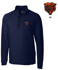 Chicago Bears Cutter & Buck NFL Overknit Quarter Zip Navy Pullover on eBay