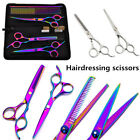 6 inch Pet Stainless Steel Salon Hairdressing Shears Adjust Flat Teeth Blades US