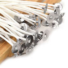 Внешний вид - 100 Pcs Candle Wicks Cotton Core Waxed Wick with Sustainer for Candle Novelt