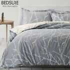 Bedsure 100% Cotton Duvet Cover Set Grey Reversible Comforter Cover Bedding Sets image