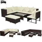 29 Pieces Poly Rattan Outdoor Garden Sofa Lounge Set Patio Furniture Brown/black