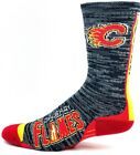 Calgary Flames NHL Hockey Gray and Black RMC Vortex Crew Socks $10.99 USD on eBay