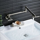 Swivel Spout Bathroom Kitchen Faucet Cold Water Tap Wall Mount Folding Basin Tap