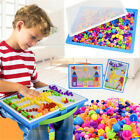 DIY Creative Children Kids Puzzle Peg Board 296 Pegs Early Educational Toys New