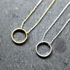 1pcs Dainty Circle Necklace For Women Gold Chain Jewelry Party Lucky Gift Gold