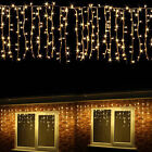 96~672 LED Hanging Icicle Curtain String Light Outdoor Fairy Xmas Party Wedding