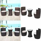 5pcs Poly Rattan Bistro Set Table And Chair Garden Patio Furniture Black /brown