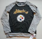 PITTSBURGH STEELERS WOMEN'S SWEATSHIRT S M L XL GRAY COTTON BLEND NWT DISTRESSED $29.99 USD on eBay