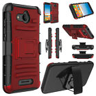 For Alcatel Tetra 6753B/5041C Hybrid Hard Phone Case With Kickstand Clip Holster