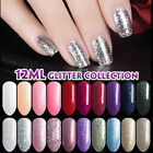 Lavender Violets 12ml Diamond Glitter Platinum Soak Off UV LED Gel Nail Polish