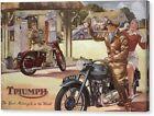"Triumph ""The best Motorcycle"" VINTAGE POSTER/ AD Canvas Box/ Photo/ Art Print €32.17 EUR on eBay"