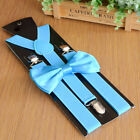 Fashion Men's Clip-on Suspenders And Bow Tie Retro Steampunk Costume Accessory