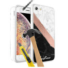 Personalised NAME MARBLE Design Hard Case + Glass for Various Models - 15