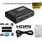 3 Or 5 Ports HDMI Splitter Switch Selector Switcher Hub+Remote 1080p For HDTV-UK