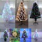'Christmas Tree Xmas 3ft 4ft 5ft 6ft 7ft 8ft Free Delivery Fibre Optic + Led Star
