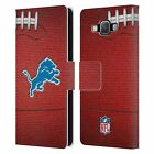 OFFICIAL NFL 2018/19 DETROIT LIONS LEATHER BOOK WALLET CASE FOR SAMSUNG PHONES 2