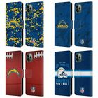NFL 2018/19 LOS ANGELES CHARGERS LEATHER BOOK CASE FOR APPLE iPHONE PHONES