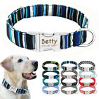 Custom Personalized Dog Collar Nylon Small Large Heavy Duty Buckle Engraved FREE