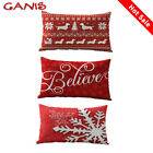 Xmas Home Decorations Cotton Linen Snowflake Cushion Cover Pillowcase Car Bed image