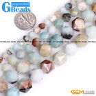 Natural Mix Color Amazonite Stone Polygonal Faceted Beads for Jewelry Making 15""