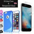 For Iphone Xs 8 7 6 5s 4 S Line Case Tpu Gel And Tempered Glass Screen Protector