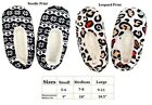 WOMENS COZY NON SLIP GRIP INDOOR HOUSE SLIPPERS M L