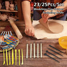 23/25 Clay Sculpting Set Wax Carving Pottery Tools Shapers Polymer Modeling Kits image
