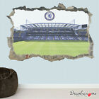 3D Football Stadium Ron Messi Boys Bedroom Smashed Wall Decal Art Sticker Poster