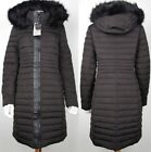 Zara NEW Quilted Faux Fur Hooded Duck Down Feather Puffer Coat Padded Zip Anorak