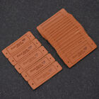 PU Leather Labels Handmade Tags DIY Clothing Bag Sewing Craft Supplies Wholesale